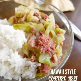 Hawaii style corned beef and cabbage