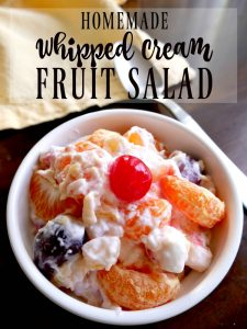 Homemade Whipped Cream Fruit Salad