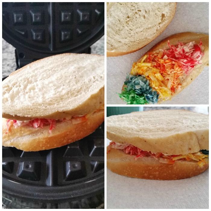 Rainbow Grilled Cheese Waffleich 3