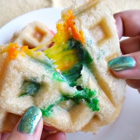 Rainbow Grilled Cheese Waffleich – St. Patrick's Day Lunch