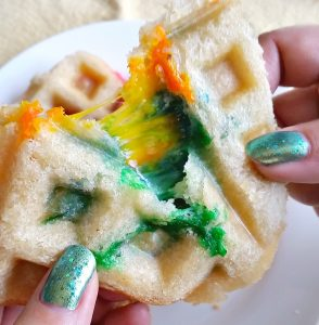 Rainbow Grilled Cheese Waffleich