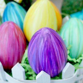 Variegated Striped Watercolor Eggs – Easter Egg Coloring
