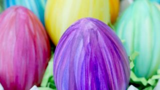 Variegated Striped Watercolor Eggs - Easter Egg Coloring