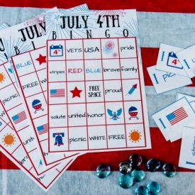 July 4th BINGO printable party game