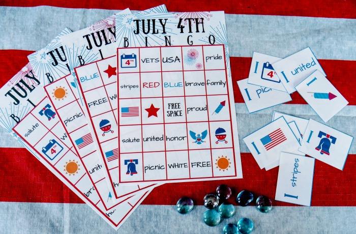 FREE July 4th BINGO Printable – Patriotic Family Party Game