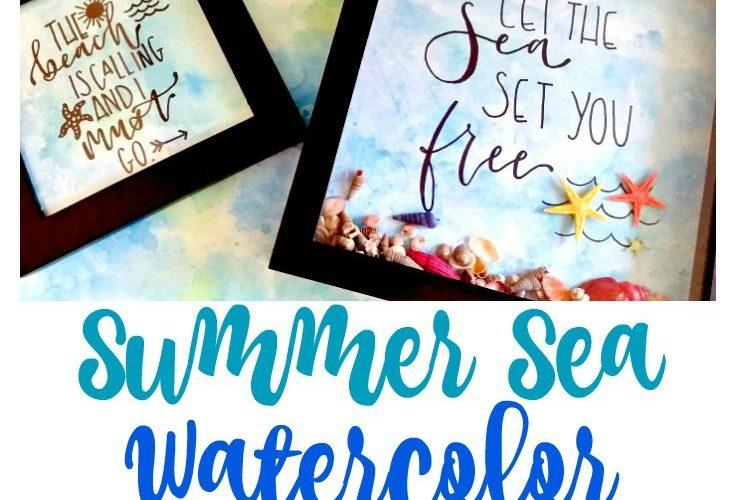 Summer Sea Watercolor Background Art