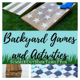 DIY Backyard Games and Activities for summer outdoor family fun