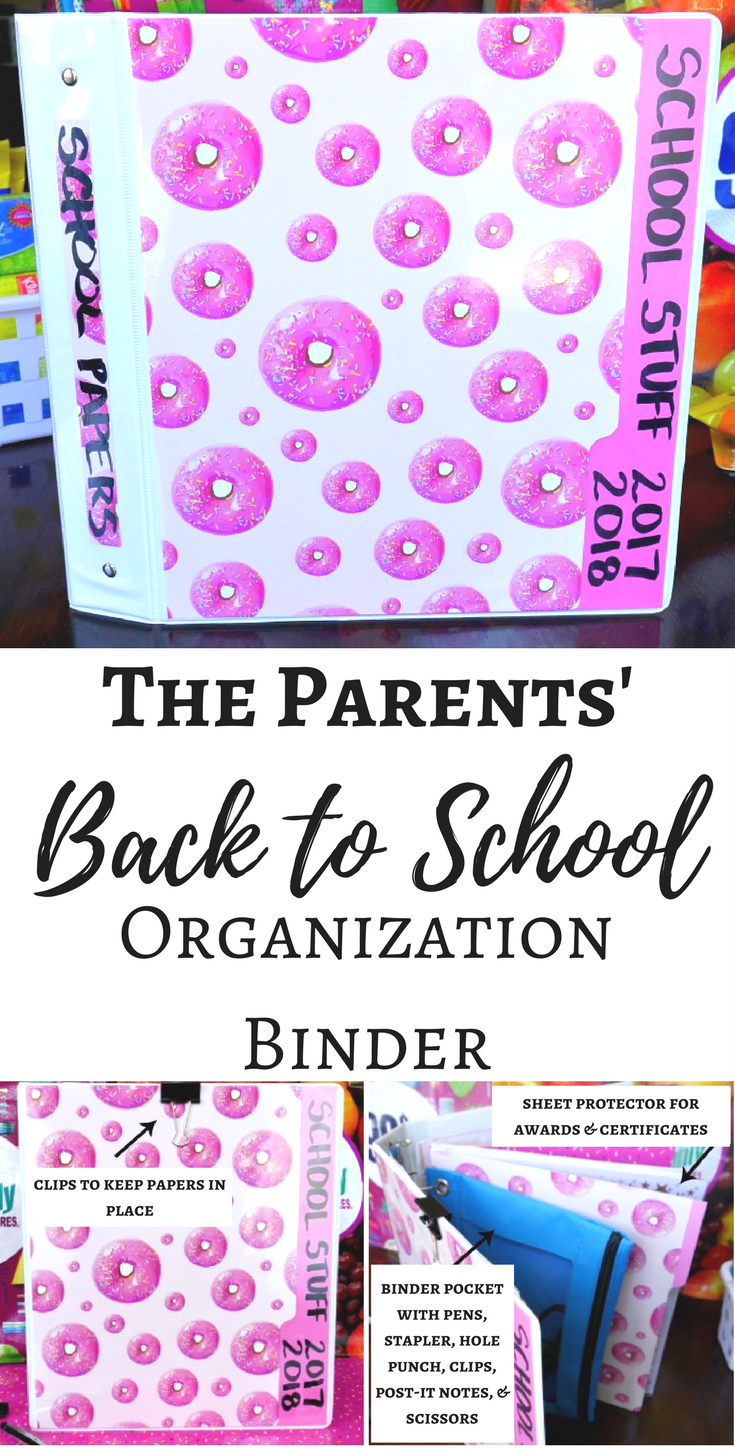 The Parents' Back to School Organization Binders