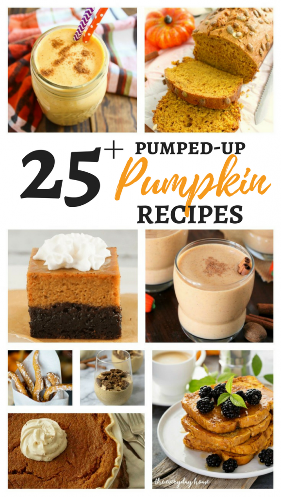 25+ Pumped-up Pumpkin Recipes - cakes, brownies, drinks, and more!