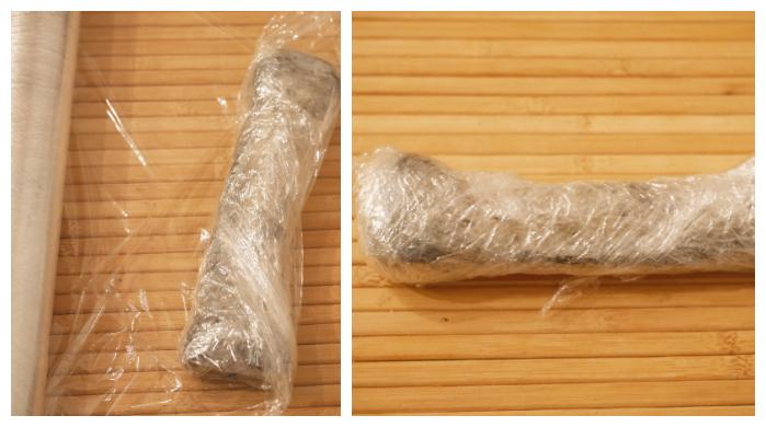 Apply plastic wrap to bones