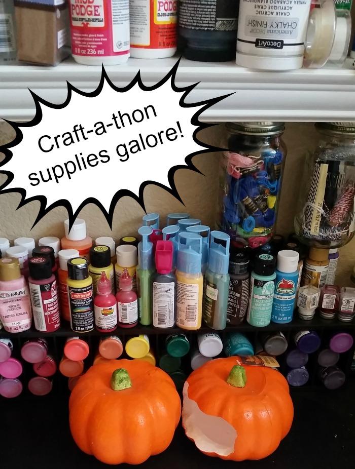 Raise Love #forRMHC craft-a-thon supplies