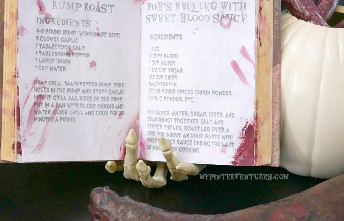 Free Halloween Cannibal Recipe Printable