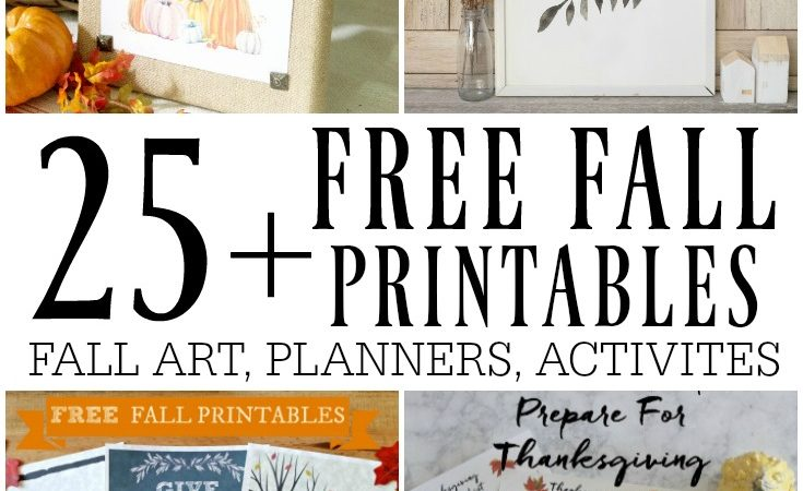 25+ free fall printables- art, planners, games, and more