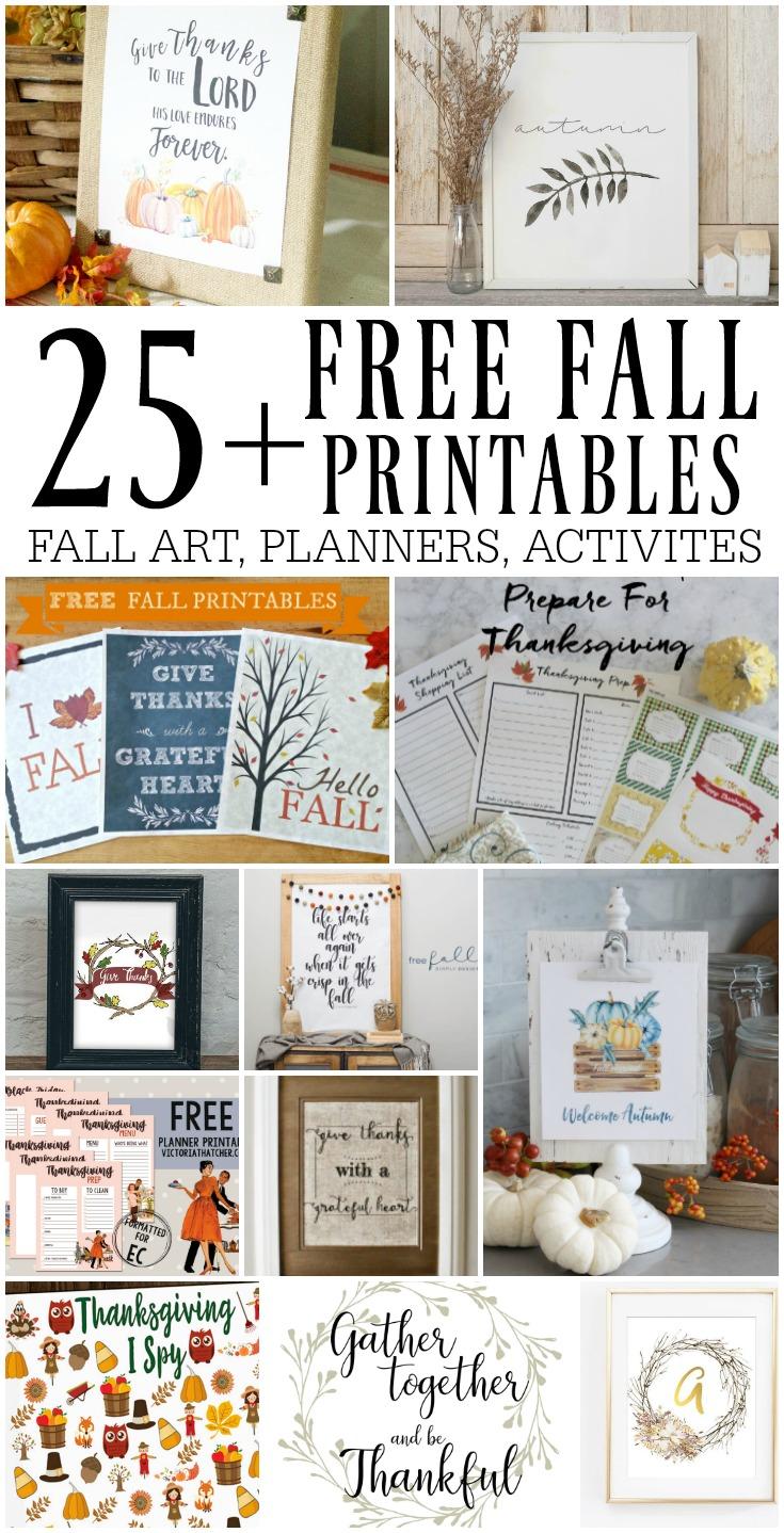 25+ Free Fall Printables