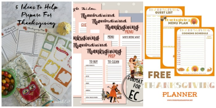 Free fall printable - thanksgiving planner