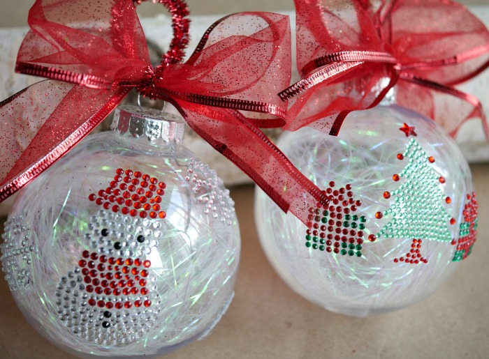 Simple sticker ornaments