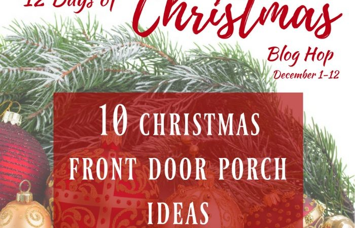 10 Christmas Front Door Porch Ideas