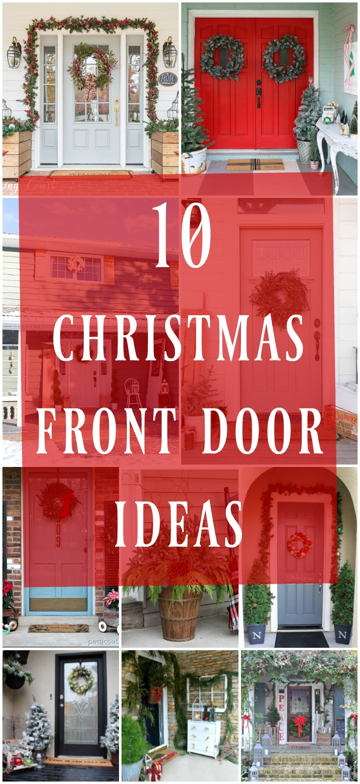 10 christmas front door decor ideas day 11 12 days of for 12 days of christmas door decoration