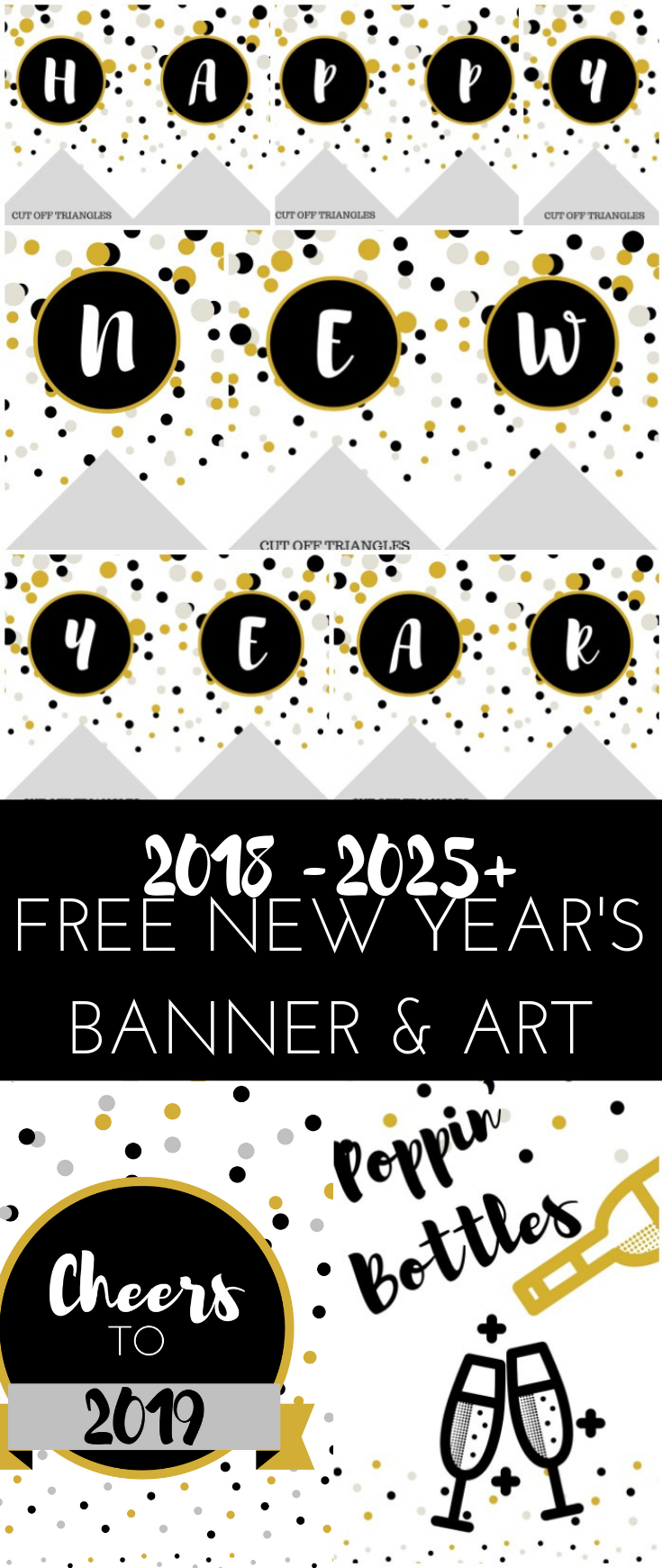 2019 New Year Banner & Wall Art