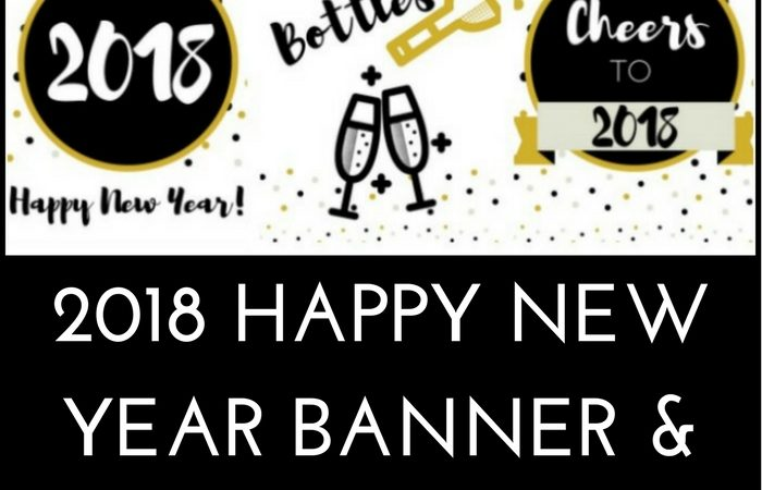 free 2018 new year banner and wall art printable