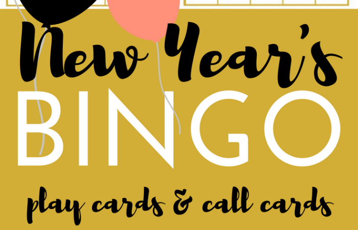 FREE New Year's BINGO Printable Game