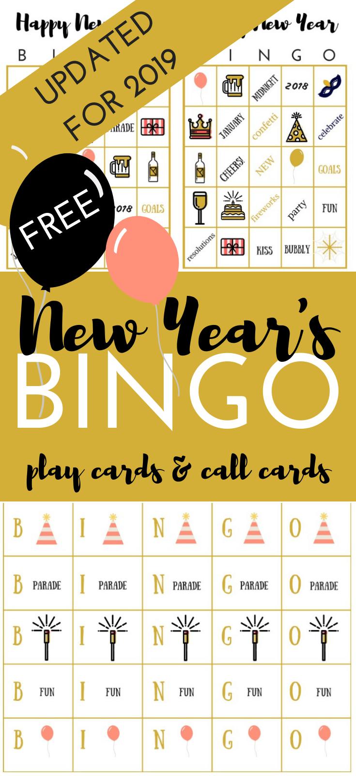 FREE New Year's BINGO Printable Game