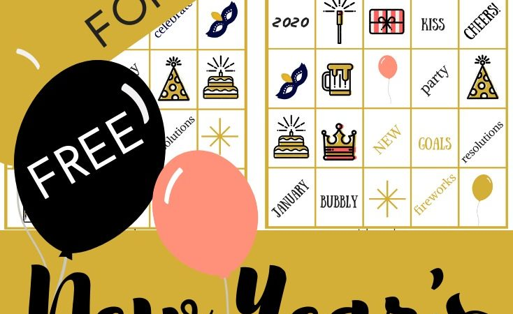 2020 New Year's Bingo Printable