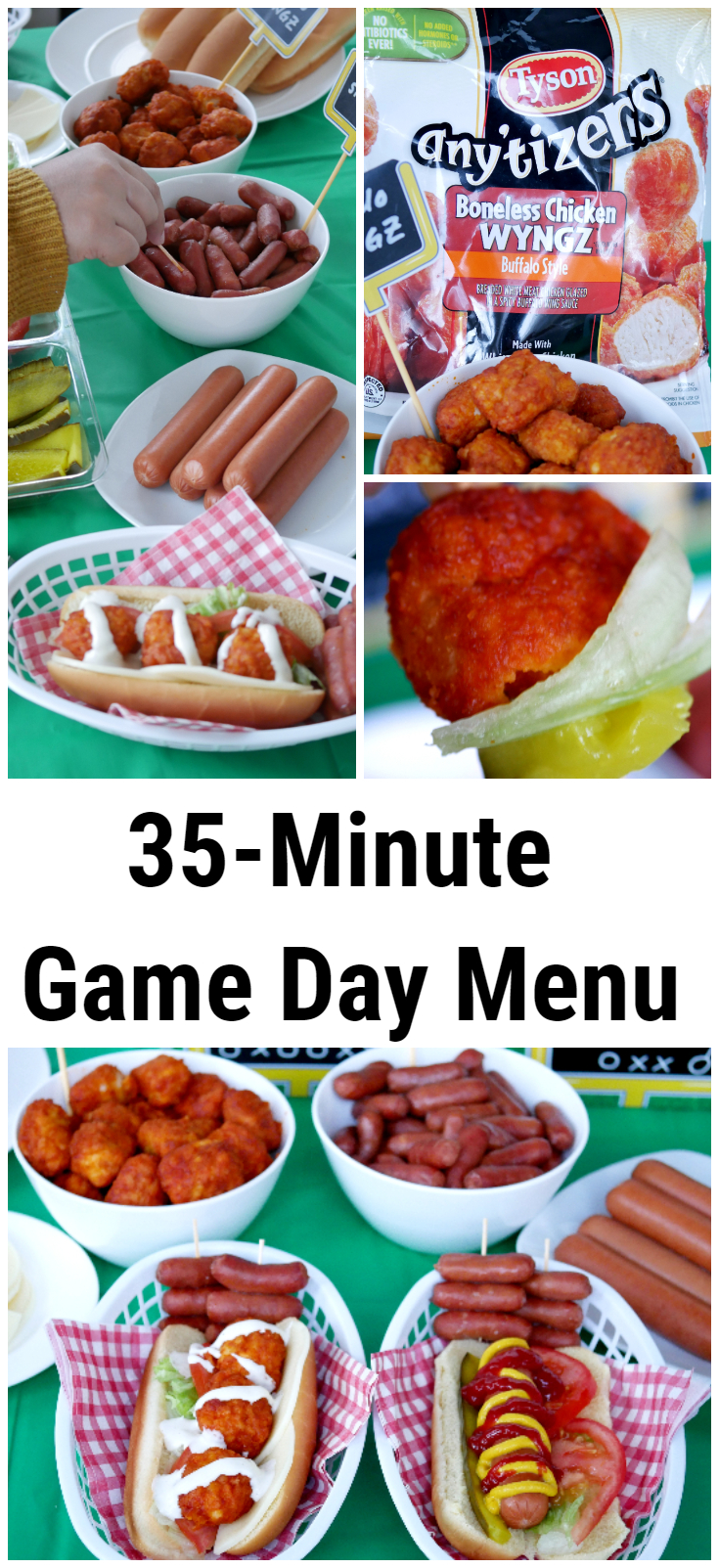 #Ad Spend less time preparing game day food with the help of @TysonBrand @HillshireFarm @BallParkBrand and have your party spread ready in 35-minutes! #TysonWinningLineup #Walmart