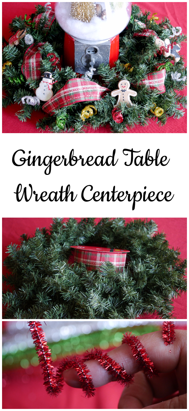 gingerbread table wreath