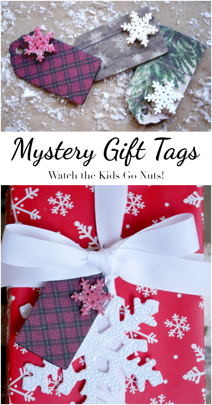 Mystery Gift Tags - watch the kids go nuts trying to figure out which gift is theirs!