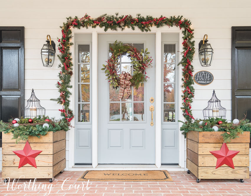 Christmas Front Door Ideas Part - 46: Urban Christmas Front Door