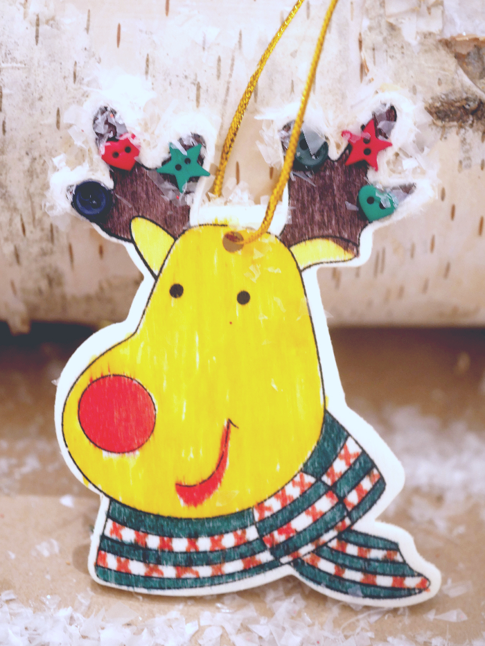 Finished Easy Reindeer Ornaments