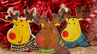 Easy Reindeer Ornaments - 99 Cents Only Kid Craft Kits