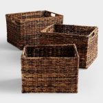 Madras woven baskets