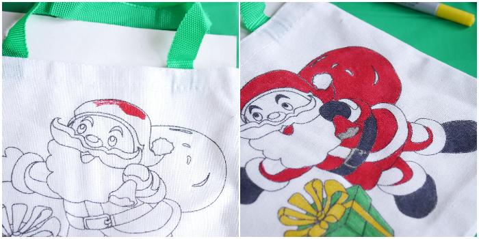 Mini Christmas Tote Gift Bags - Santa
