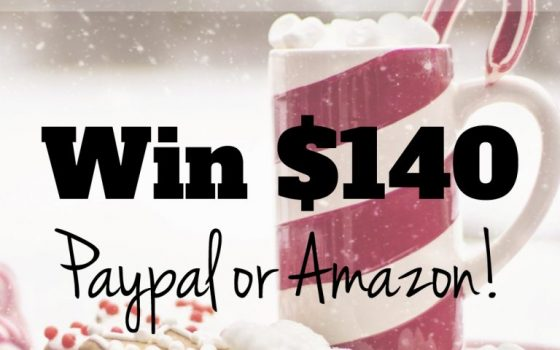 $140 Winter Giveaway! – Paypal or Amazon Online Gift Card