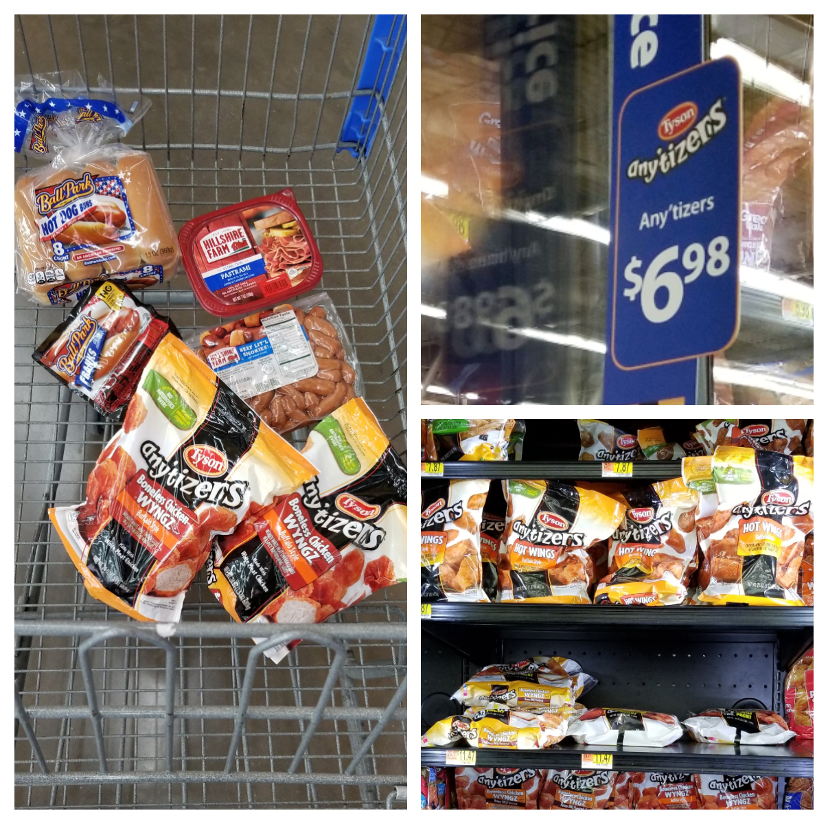 Walmart shopping cart- 35-minute game day menu