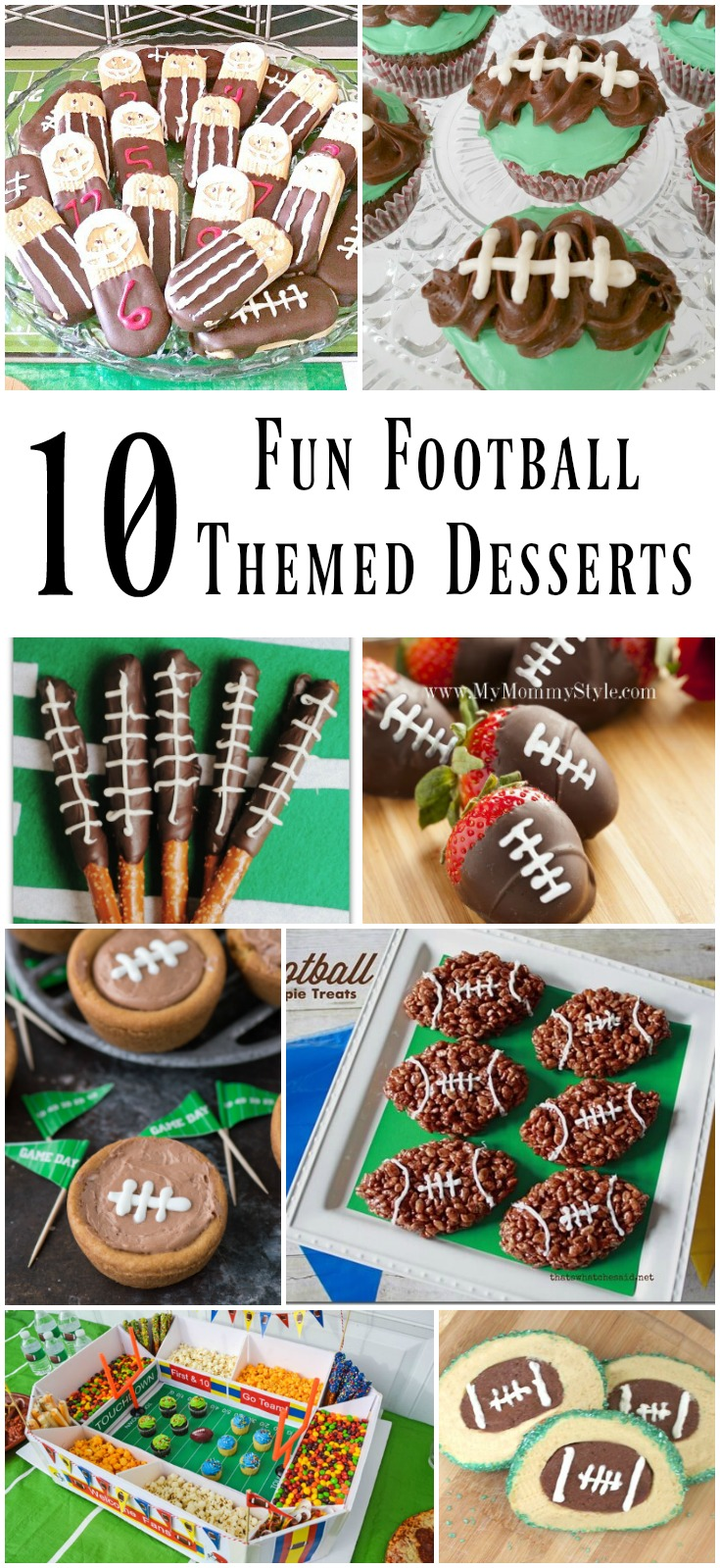 10 Fun Football Themed Game Day Desserts