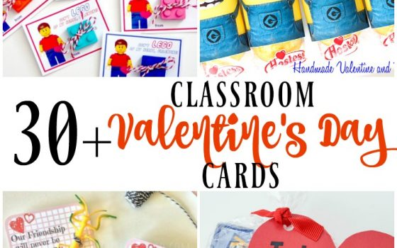 30+ FREE Classroom Valentine's Day Cards – MM #189
