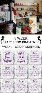 Craft Room Challenge Week 1 - Cleaning Surfaces