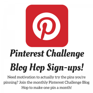 Pinterest Challenge Sign-up