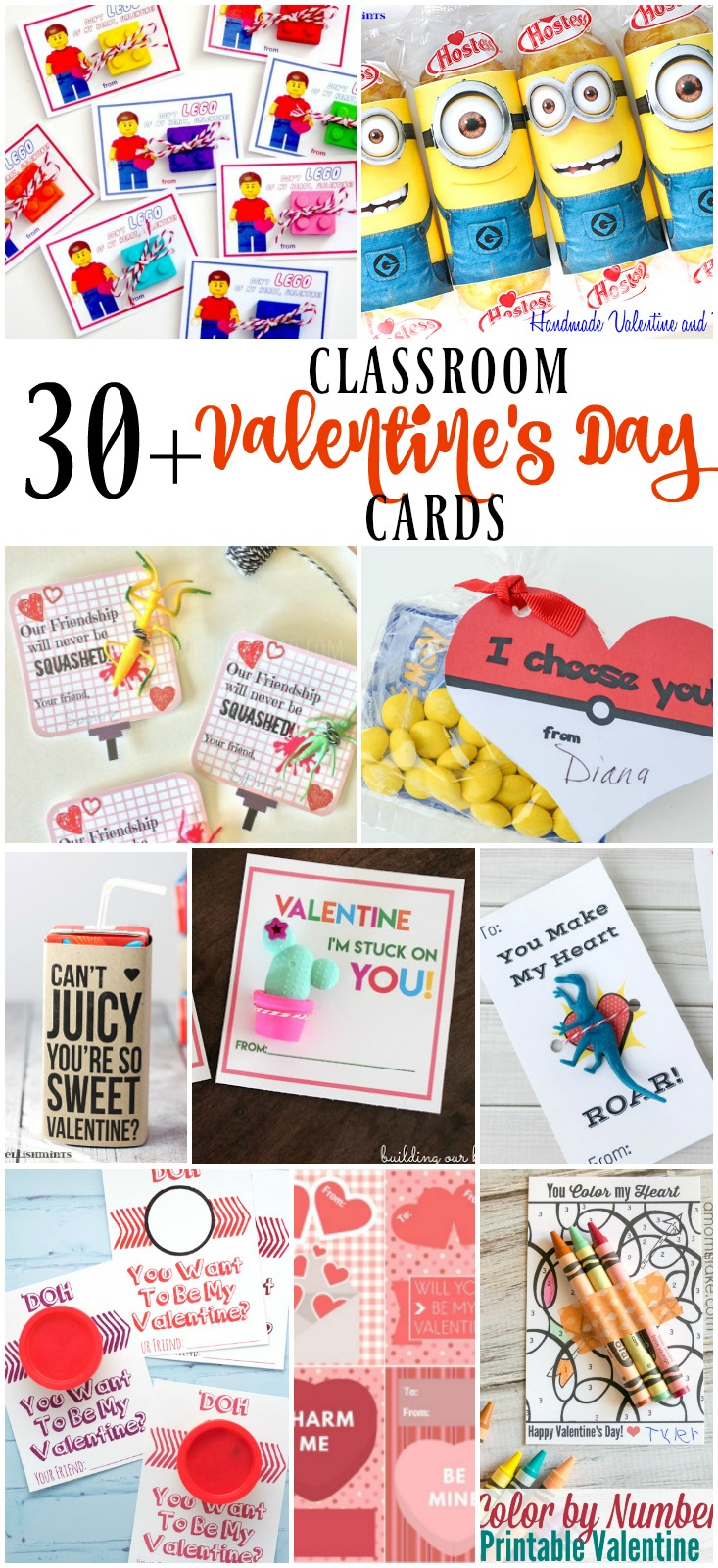 30+ FREE Classroom Valentine's Day Cards
