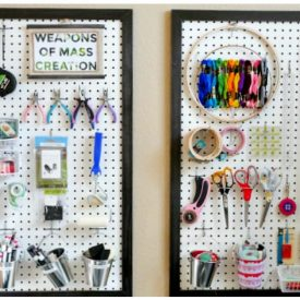 Easy Framed Peg Board for Craft Storage- Week 3 Craft Room Challenge