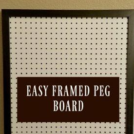 Easy Framed Peg Board for Craft Storage- Week 3 Craft Room Challenge