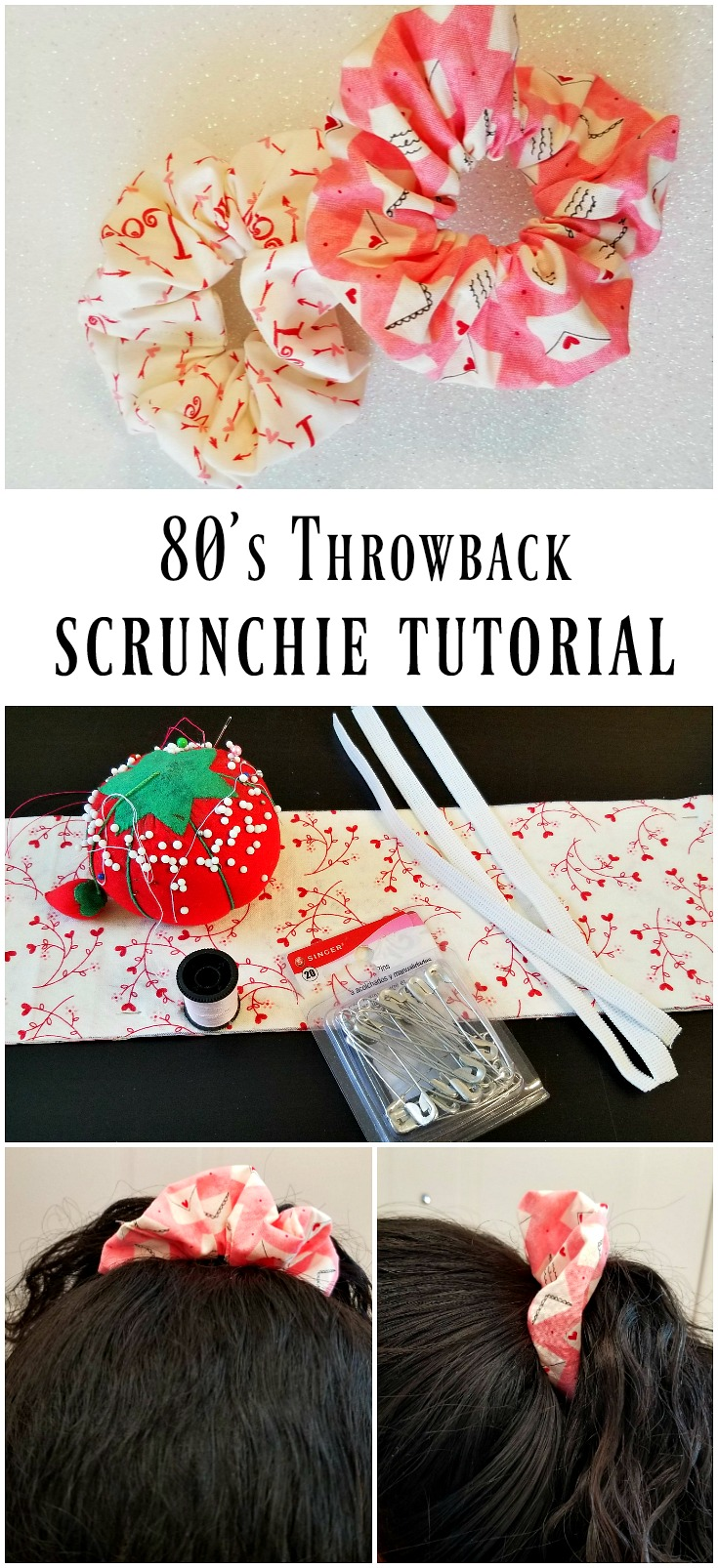 Scrunchie tutorial - 80's throwback trend