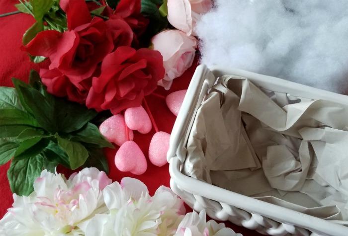 Valentine's Day Glitter Hearts Arrangement