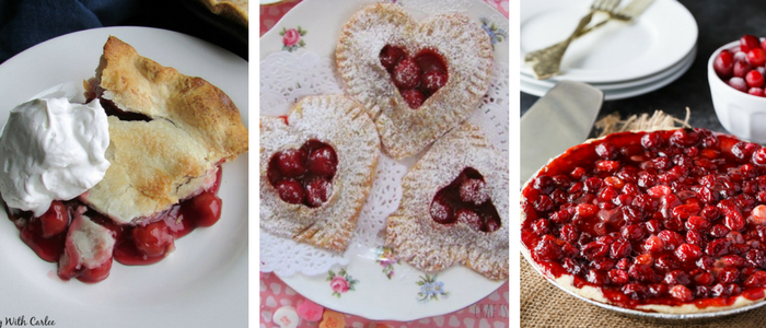 Cherry Desserts - tart cherry pie, cherry hand pie, and cranberry cherry pie