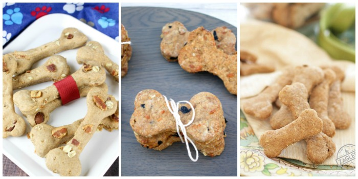 Homemade Dog Treat Recipes - peanut butter bacon, peanut butter cheddar, and homemade dog biscuit recipes