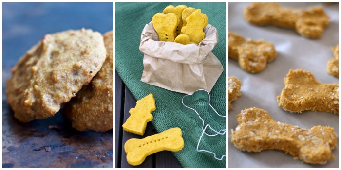 healthy peanut butter dog cookies, pumpkin peanut butter dog biscuits, and pumpkin apple biscuits