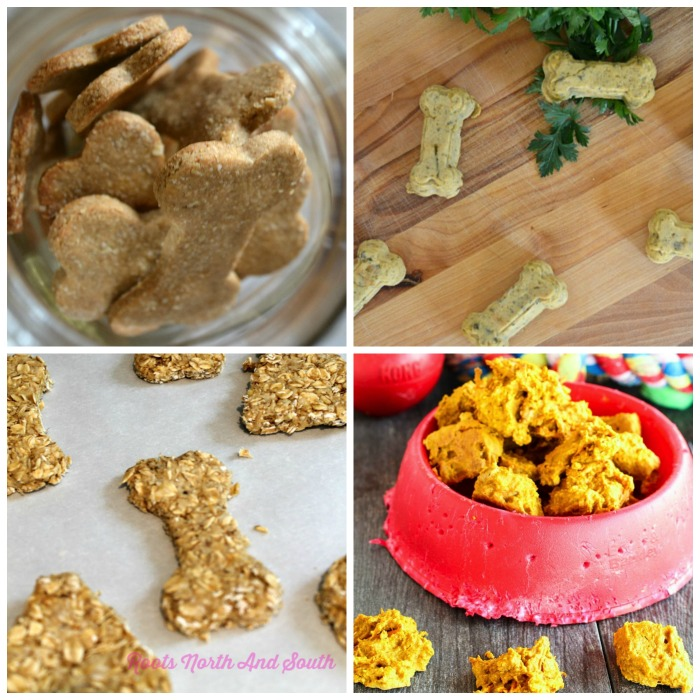 homemade dog treat recipes - image of 4 dog biscuits